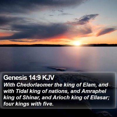 Genesis 14:9 KJV Bible Verse Image