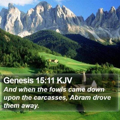 Genesis 15:11 KJV Bible Verse Image