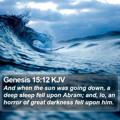 Genesis 15:12 KJV Bible Verse Image
