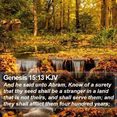 Genesis 15:13 KJV Bible Verse Image
