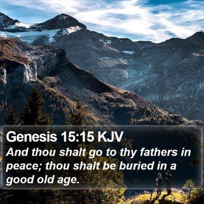 Genesis 15:15 KJV Bible Verse Image