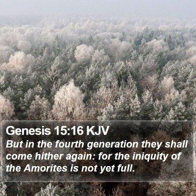 Genesis 15:16 KJV Bible Verse Image