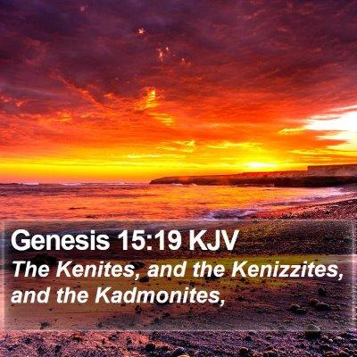 Genesis 15:19 KJV Bible Verse Image