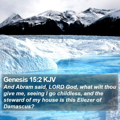 Genesis 15:2 KJV Bible Verse Image