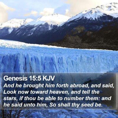 Genesis 15:5 KJV Bible Verse Image