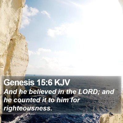 Genesis 15:6 KJV Bible Verse Image