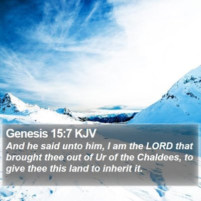 Genesis 15:7 KJV Bible Verse Image
