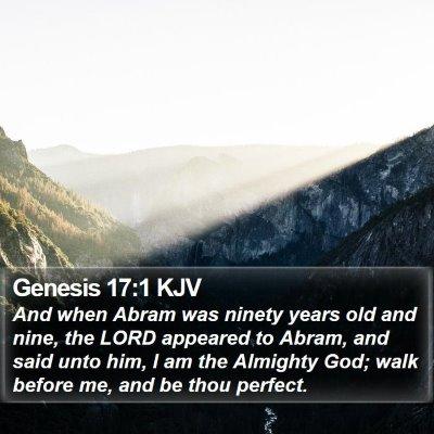 Genesis 17:1 KJV Bible Verse Image