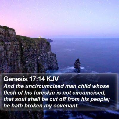 Genesis 17:14 KJV Bible Verse Image