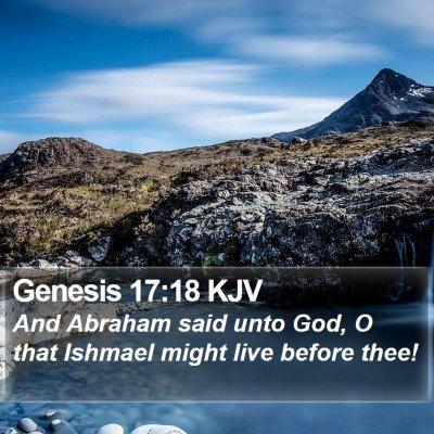 Genesis 17:18 KJV Bible Verse Image