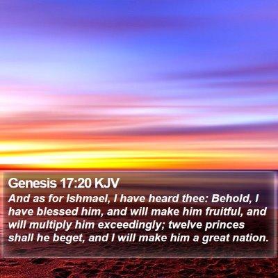 Genesis 17:20 KJV Bible Verse Image