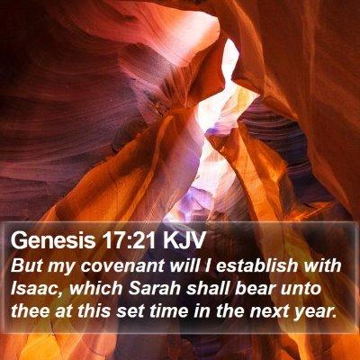 Genesis 17:21 KJV Bible Verse Image
