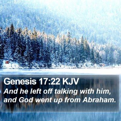 Genesis 17:22 KJV Bible Verse Image