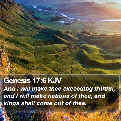Genesis 17:6 KJV Bible Verse Image