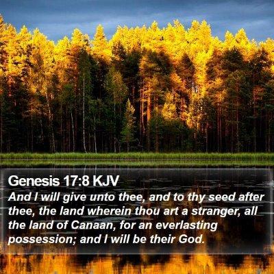 Genesis 17:8 KJV Bible Verse Image