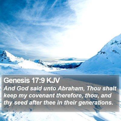 Genesis 17:9 KJV Bible Verse Image