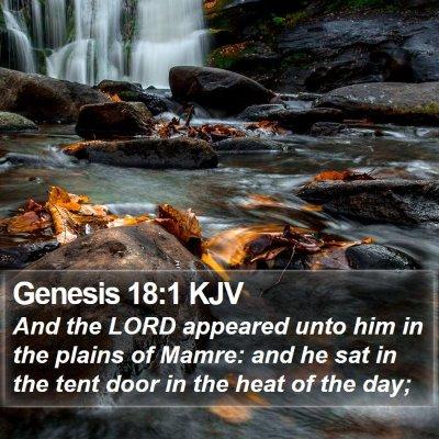 Genesis 18:1 KJV Bible Verse Image