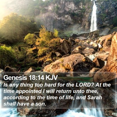 Genesis 18:14 KJV Bible Verse Image