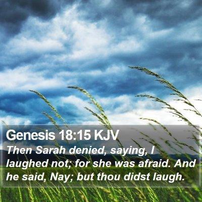 Genesis 18:15 KJV Bible Verse Image