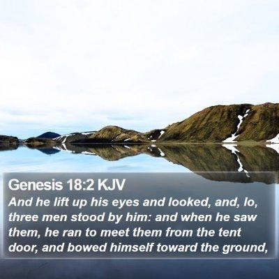 Genesis 18:2 KJV Bible Verse Image