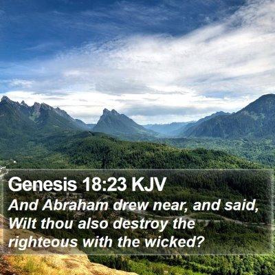 Genesis 18:23 KJV Bible Verse Image