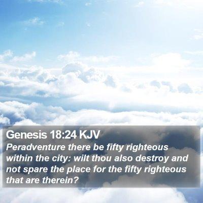 Genesis 18:24 KJV Bible Verse Image