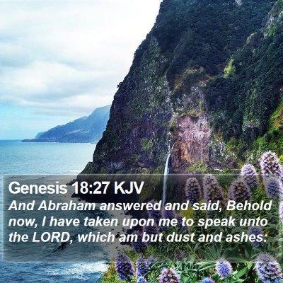 Genesis 18:27 KJV Bible Verse Image