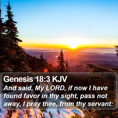 Genesis 18:3 KJV Bible Verse Image