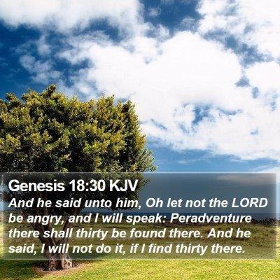 Genesis 18:30 KJV Bible Verse Image