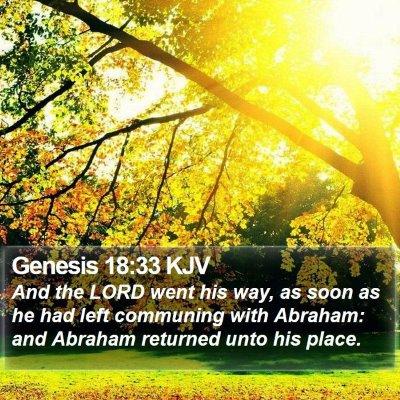 Genesis 18:33 KJV Bible Verse Image