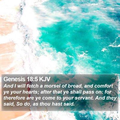 Genesis 18:5 KJV Bible Verse Image