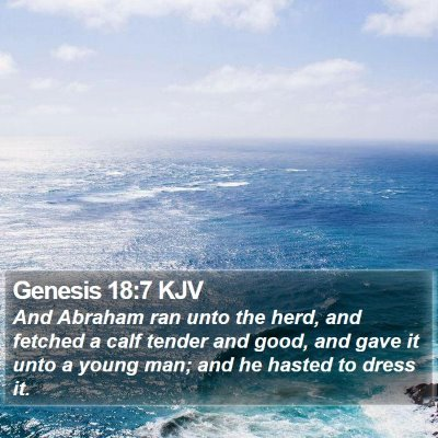 Genesis 18:7 KJV Bible Verse Image