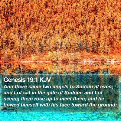 Genesis 19:1 KJV Bible Verse Image