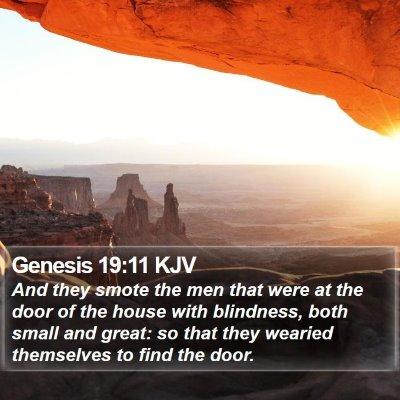Genesis 19:11 KJV Bible Verse Image