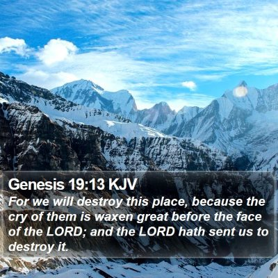 Genesis 19:13 KJV Bible Verse Image