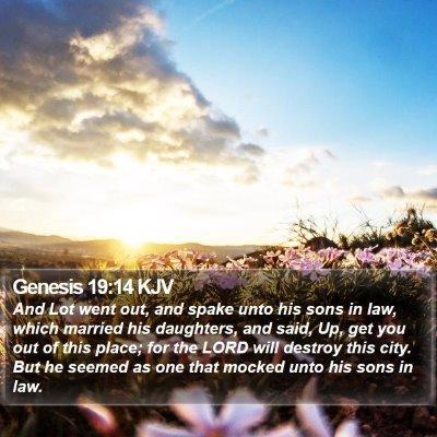 Genesis 19:14 KJV Bible Verse Image