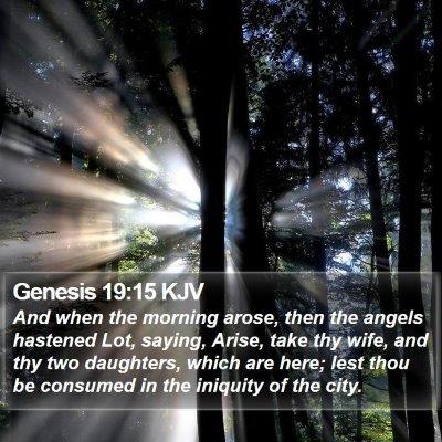 Genesis 19:15 KJV Bible Verse Image
