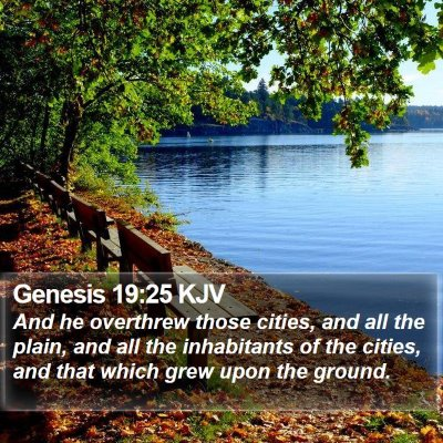 Genesis 19:25 KJV Bible Verse Image