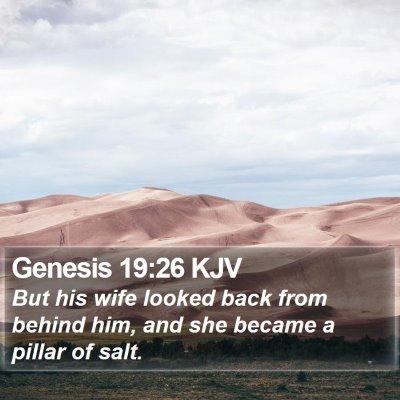 Genesis 19:26 KJV Bible Verse Image