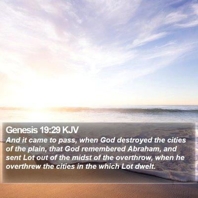 Genesis 19:29 KJV Bible Verse Image