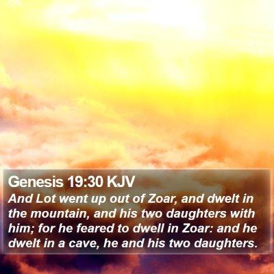 Genesis 19:30 KJV Bible Verse Image