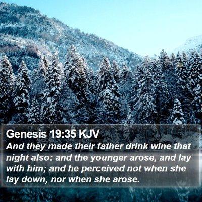 Genesis 19:35 KJV Bible Verse Image
