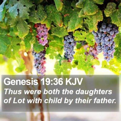 Genesis 19:36 KJV Bible Verse Image
