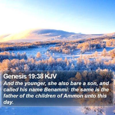 Genesis 19:38 KJV Bible Verse Image