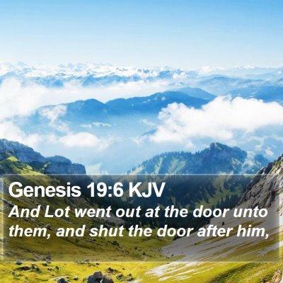 Genesis 19:6 KJV Bible Verse Image