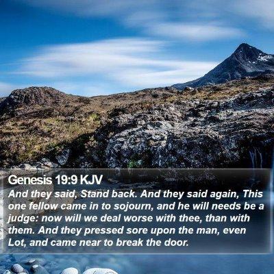 Genesis 19:9 KJV Bible Verse Image