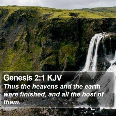 Genesis 2:1 KJV Bible Verse Image