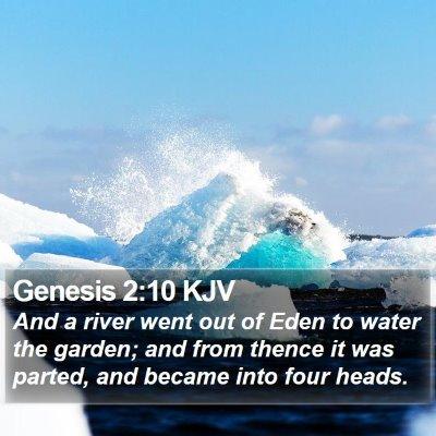 Genesis 2:10 KJV Bible Verse Image