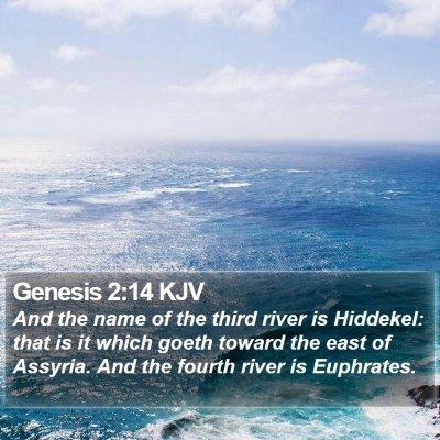 Genesis 2:14 KJV Bible Verse Image