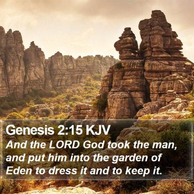 Genesis 2:15 KJV Bible Verse Image